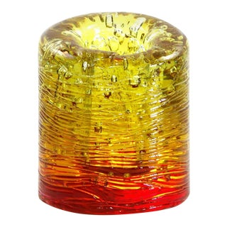 Jungle Contemporary Vase, Small Bicolor Gold and Red resin by Jacopo Foggini For Sale