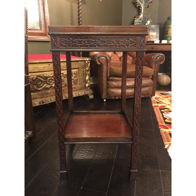 Early 19th Century 1820s Carved Mahogany Chippendale Style Side Table For Sale - Image 5 of 8