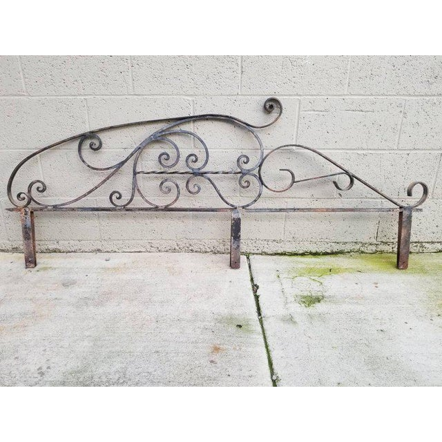 Gray Architectural Iron Panels - a Pair For Sale - Image 8 of 10