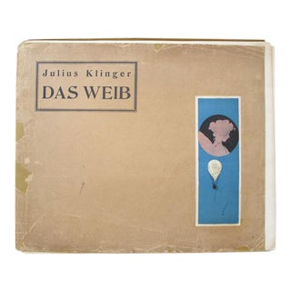 1902 Original Klinger German Book, Das Weib Im Modernen Ornament, 30 Plates