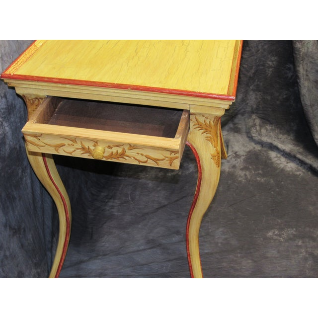 Italian Vintage Hand Painted End Table For Sale In West Palm - Image 6 of 7