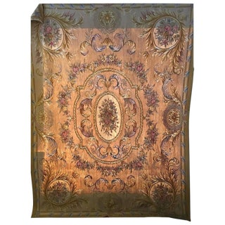 Beige Aubusson Tapestry - 8' x 10' For Sale