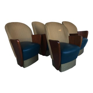 Mid Century Art Deco Comfy Chairs - Set of 4 For Sale