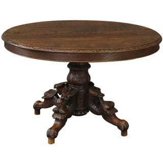 Table Antique French Renaissance Hunting Style For Sale