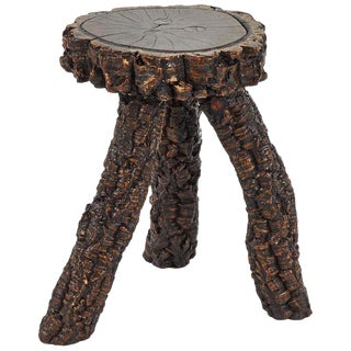Naive Stool or Side Table For Sale