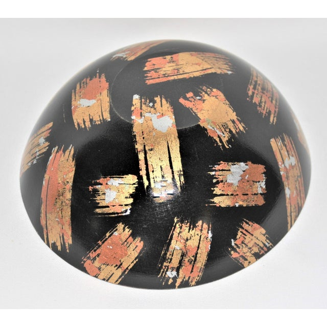 Hand-Carved Mixed Media Maplewood Art Bowl For Sale - Image 9 of 10
