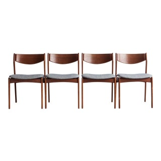 1960s Mid-Century Modern Erik Buch Dining Chairs - Set of 4 For Sale