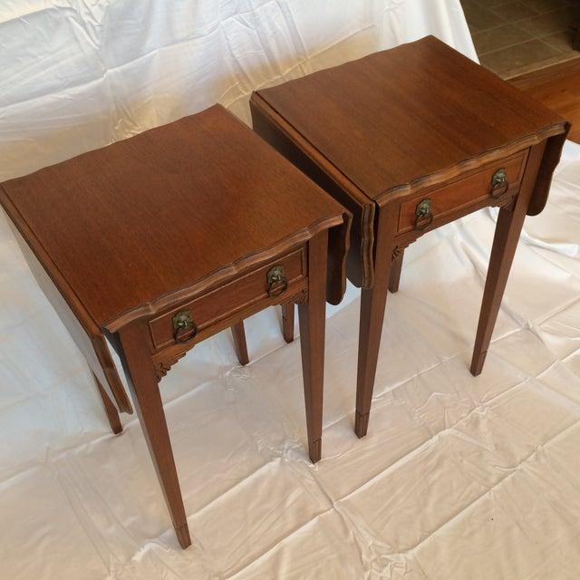 Vintage Drop Leaf Side Tables - A Pair - Image 3 of 9