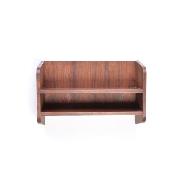 1960s Small Danish Rosewood Wall Shelf, 1960s For Sale - Image 5 of 10