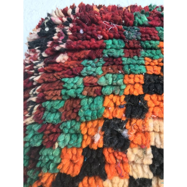 Vintage Moroccan Wool Pouf - Image 4 of 10
