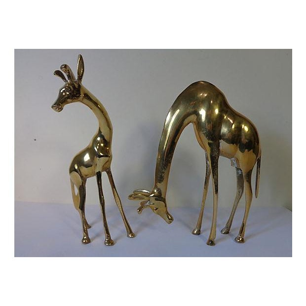 Modernist Brass Giraffes - Pair - Image 2 of 6