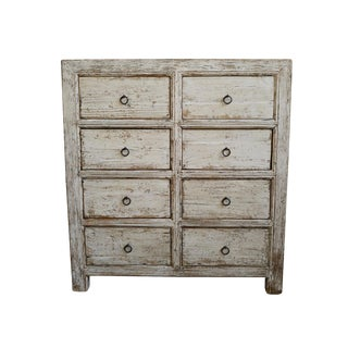 White Wash 6 Drawer Farm Dresser For Sale