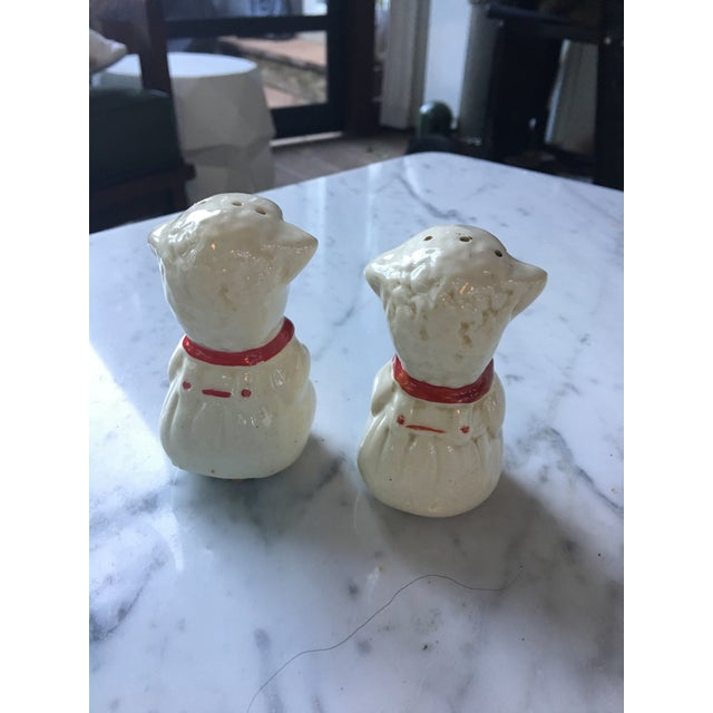 Vintage Red Collared Lamb Salt & Pepper Shakers For Sale - Image 4 of 6