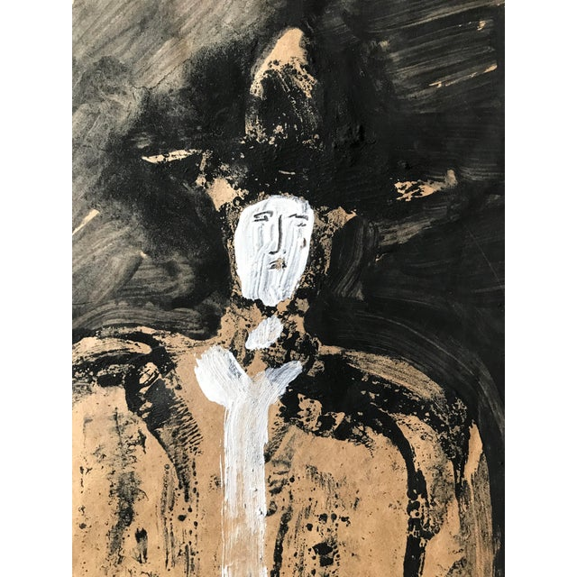 "1968 Jack Hooper ""Man With Hat"" Painting - Image 7 of 8"