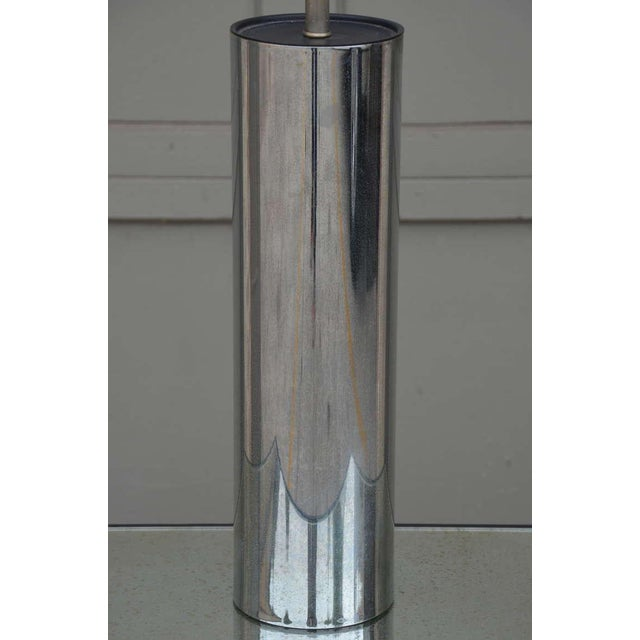 1970s George Kovacs Minimalistic Chrome Cylinder Table Lamp For Sale In Los Angeles - Image 6 of 7