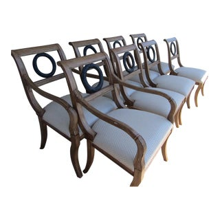 Federal Style With Medallion Backs Chairs - Set of 8