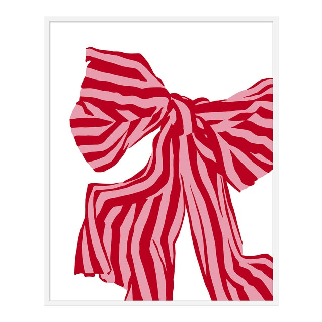 "Large ""Red Bow"" Print by Angela Chrusciaki Blehm, 38"" X 48"" For Sale"