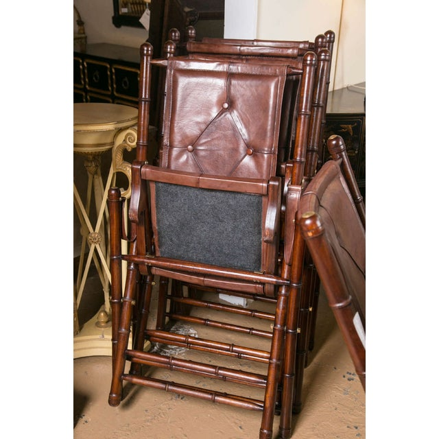 Leather Bamboo-Style Folding Chair - 20 Available For Sale - Image 9 of 9