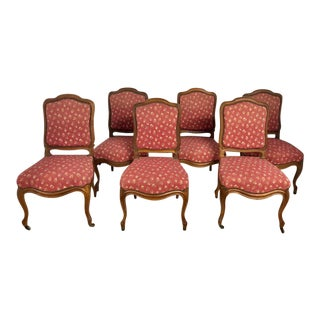 French Dining Chairs With Cabriole Legs - Set of 6