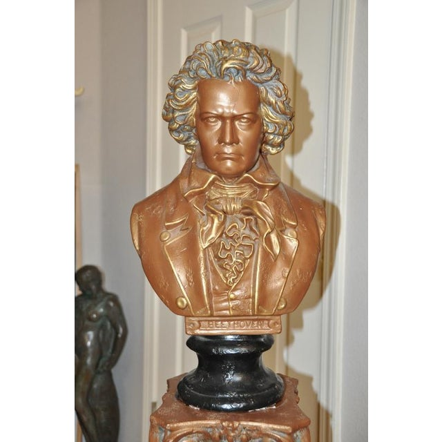 (PRICE IS NEGOTIABLE. FEEL FREE TO MAKE REASONABLE OFFERS.) This is a ceramic bust of Ludwig van Beethoven, the German...
