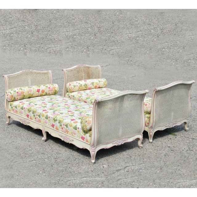 Early 20th Century French Louis XV Style Daybeds- a Pair For Sale - Image 12 of 12
