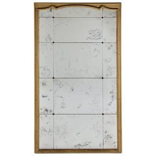 1800s Antique Italian Floor Mirror, Mercury Glass For Sale
