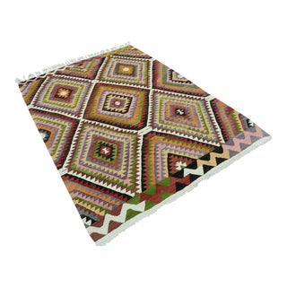 Vintage Turkish Classic Kilim Rug For Sale