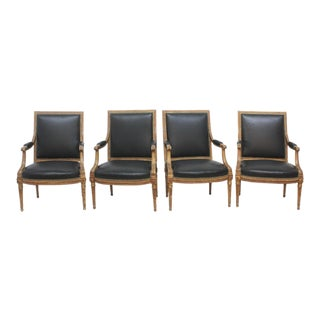 Louis XVI Style Fauteuils / Group of Four or Two Pairs For Sale