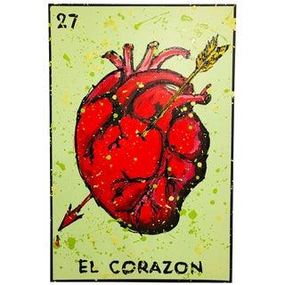 """""""El Corazon"""" Painting From """"La Lotería"""" by Carlos E. Ortiz For Sale"""