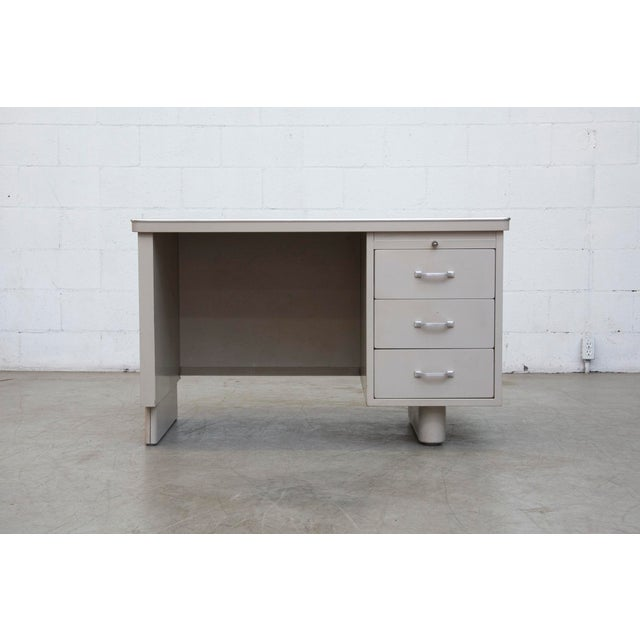 Industrial Metal Mini Tank Desk - Image 10 of 10