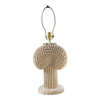 Mid-Century White Italian Ceramic Lamp
