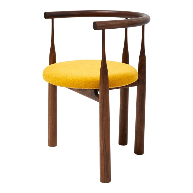 Steven Bukowski Bellbottom Chair in Walnut For Sale