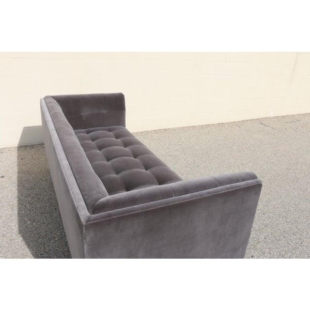 Modern Velvet Tufted Sofa - Image 8 of 10
