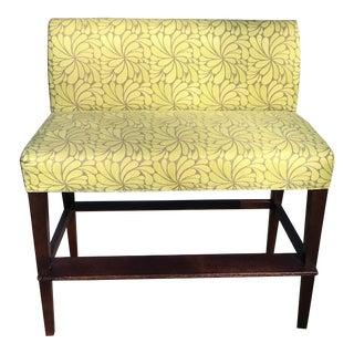 Modern Lee Industries Bar Bench With Custom Upholstrey For Sale