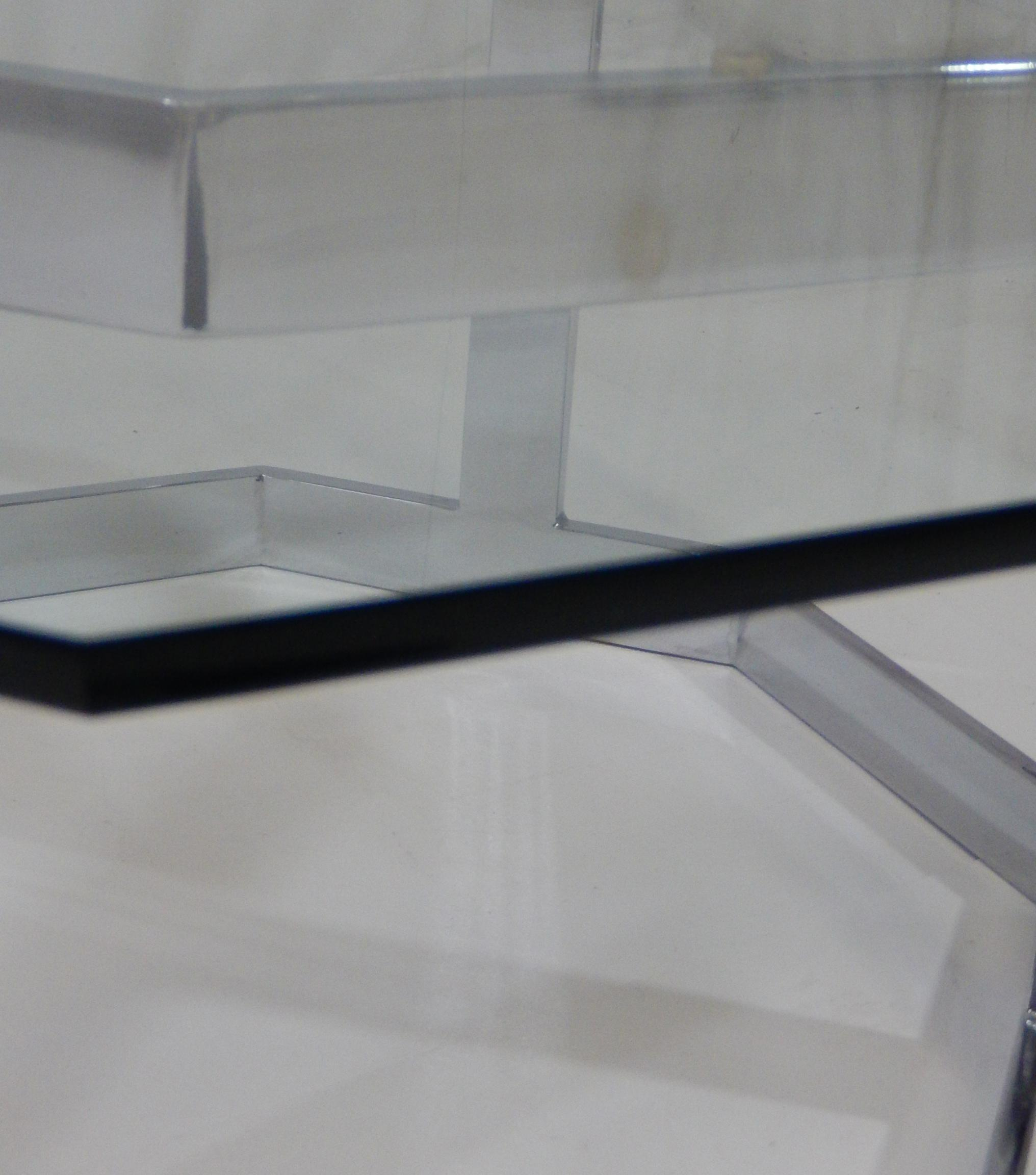 Milo Baughman Chrome Octagon Coffee Table For Sale   Image 5 Of 5