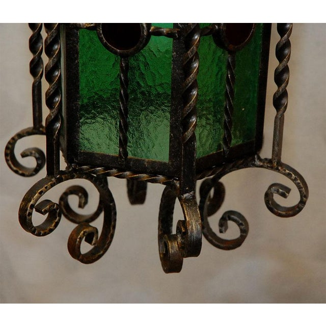 Wrought Iron Lanterns - A Pair For Sale In Los Angeles - Image 6 of 10