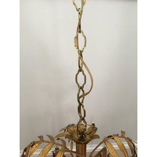 Vintage Faux Bamboo Gilt Chandelier Preview