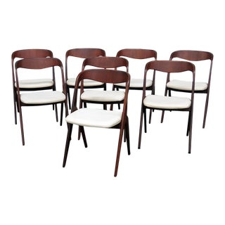 Mid-Century Modern Danish Dining Chairs - Set of 8 For Sale