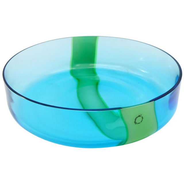 V. Nasson & Co. Vintage Hand Blown Murano Glass Bowl For Sale In Miami - Image 6 of 6