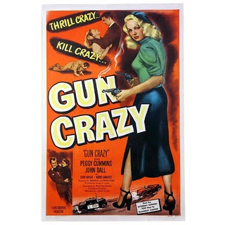 "1950 Movie Poster of the Joseph H. Lewis Directed Film ""gun Crazy"". A Film Noir Classic. For Sale"