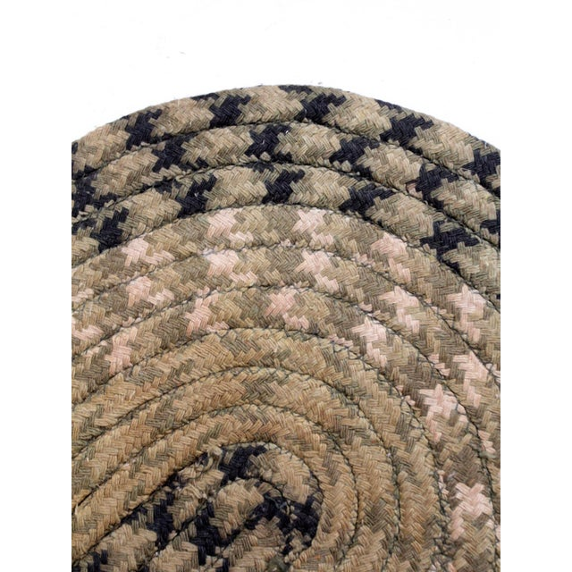 Vintage Braided Accent Rug For Sale - Image 6 of 7
