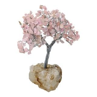 Rose Quartz Silver Feng Shui Bonsai Tree For Sale