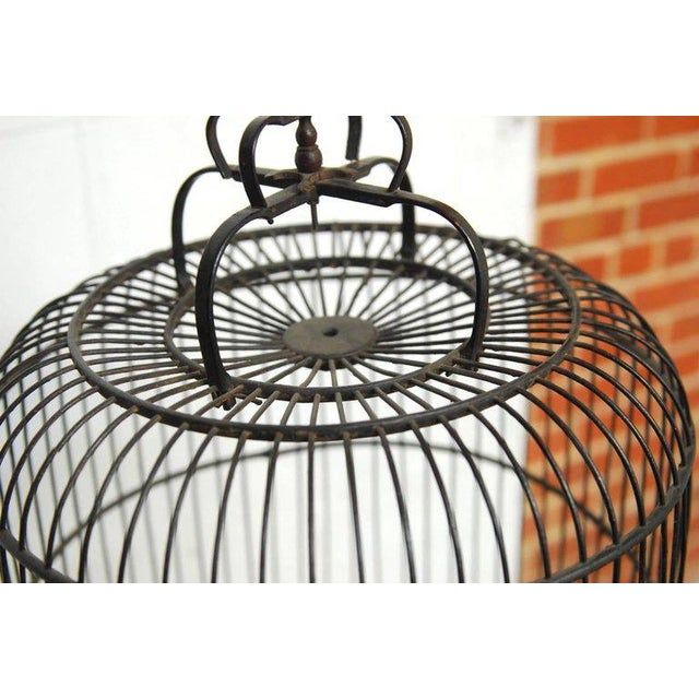 Antique Chinese Domed Bamboo Bird Cage For Sale - Image 10 of 11