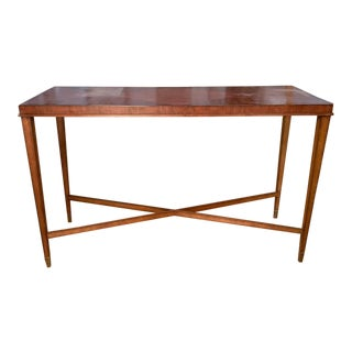 Large Console Table With Diamond Grain Pattern For Sale