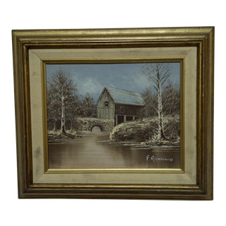 "Original ""Barn Bridge"" Painting on Board"