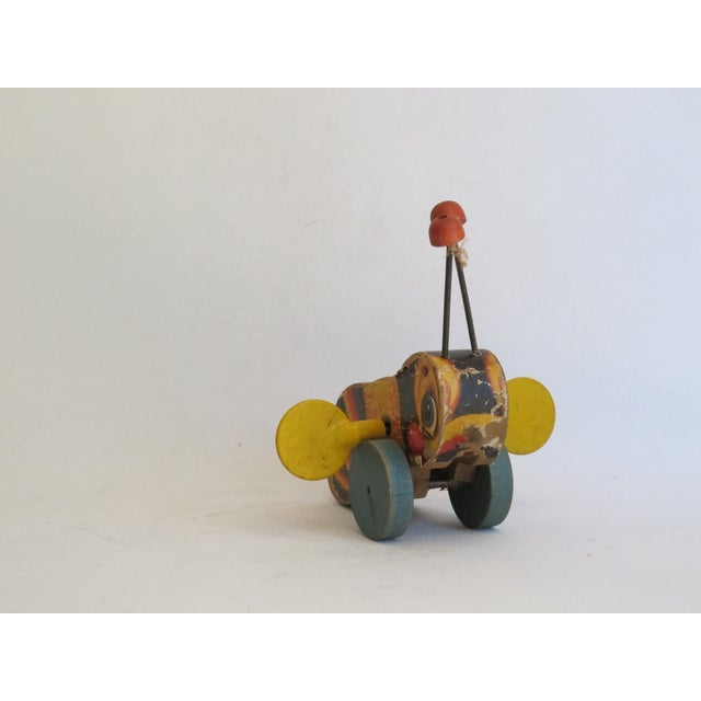 """Children's Antique """"Buzzy Bee"""" Pull Toy For Sale - Image 3 of 6"""