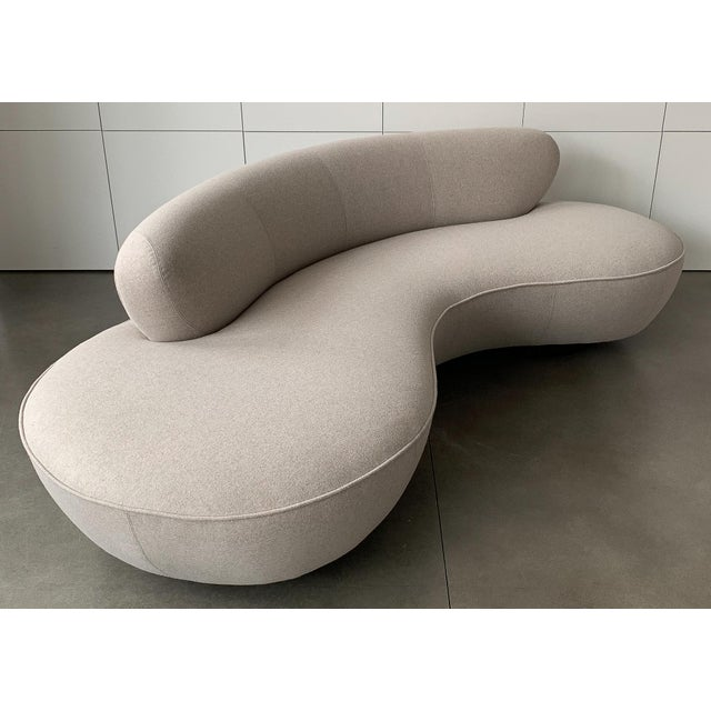 "Tan Valdimir Kagan for Directional Mid-Century Modern ""Cloud"" Sofa For Sale - Image 8 of 13"