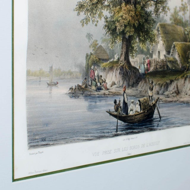 French Hooghly River Print by Auguste-Nicolas Vaillant For Sale - Image 3 of 4