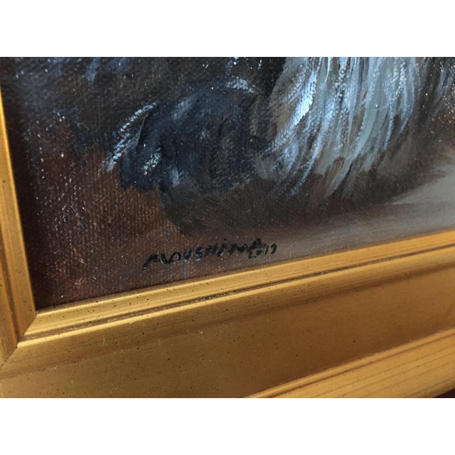 """2010s """"Frenemies"""" Cairn Dog and Ginger Cat Painting For Sale - Image 5 of 6"""