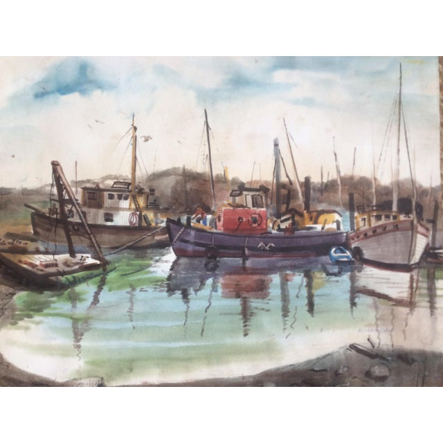 Fishing Boats Watercolor For Sale - Image 10 of 11